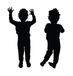 Boy child silhouette vector