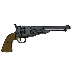 Old wild west revolver vector