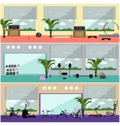 Fitness center interior  work vector