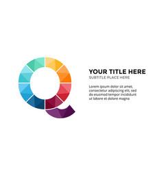 Alphabet infographic presentation slide vector