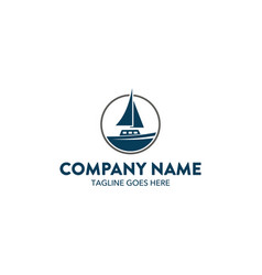 aviation and marine logo template vector image