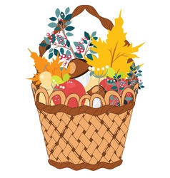 Basket of Vegetables vector image