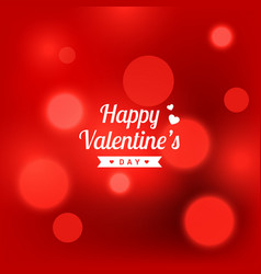 beautiful bokeh blurred background for valentines vector image
