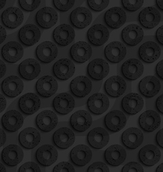 Black textured plastic diagonal donuts with waves vector image vector image