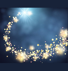 Blue shining background with stars vector