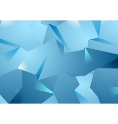 Blue technology polygonal background vector image