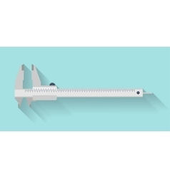 Caliper in a flat style Mesurement Building and vector image