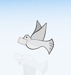 carrier-pigeon vector image