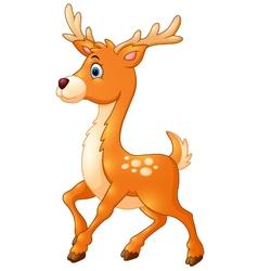 Cartoon style little deer vector image