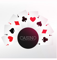 casino playing cards background vector image vector image
