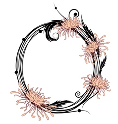 chrysanthemum floral frame vector image