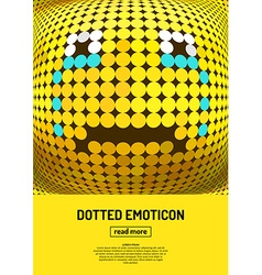 Emotional face icon vector image vector image