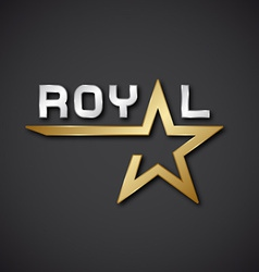 Eps10 royal golden star inscription icon vector
