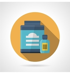 Flat color icon for sport supplements vector image