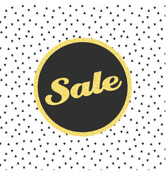 Glitter sale template with triangle pattern vector