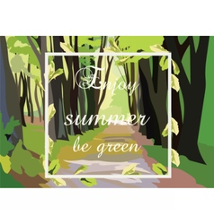 Green forrest trees vector