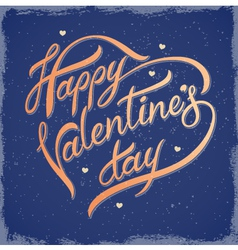 Inscription on Valentines Day vector image vector image