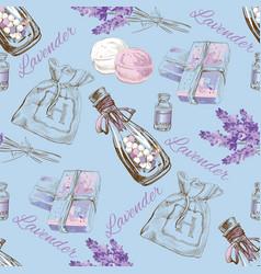 Lavender pattern vector