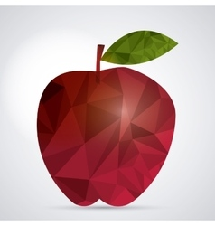 Low Poly apple design vector image