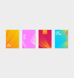 minimal covers design set simple shapes with vector image vector image