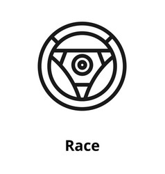 race line icon vector image