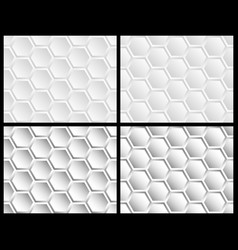 seamless pattern of hexagons vector image