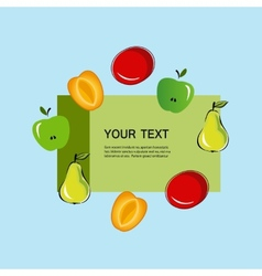 Set of fruits fruit trees design vector image