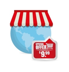 Special offer online globe shop tag price vector