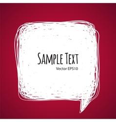 Square Doodle Speech Bubble vector image