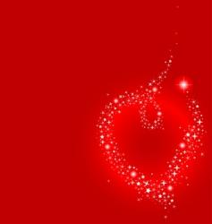 stardust heart vector image