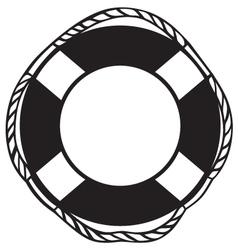 Symbol lifebuoy vector image vector image