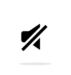 Turn off sound simple icon on white background vector