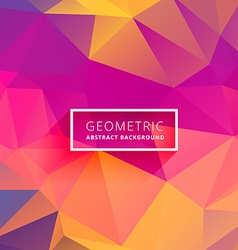 Multicolor triangle background vector