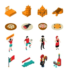 Portugal icons set vector