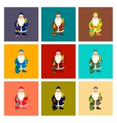 Assembly flat santa claus vector