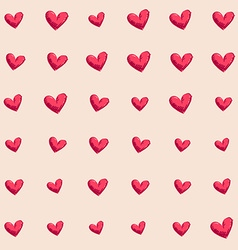 Background seamless hand drawn heart vector