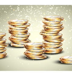 Background with coins vector image