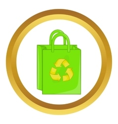 Package recycling icon vector