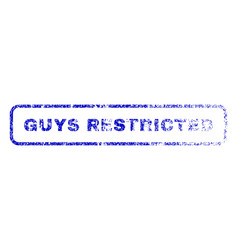 Guys restricted rubber stamp vector