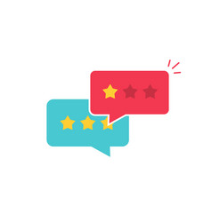 Customer review communication symbol vector