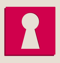 Keyhole sign grayscale vector
