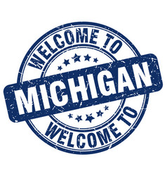 Welcome to michigan vector