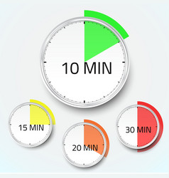 Realistic clock timer stopwatch icon vector