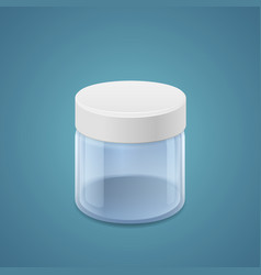Wide jar vector