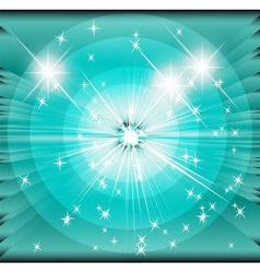 Star sunbeam blue background vector