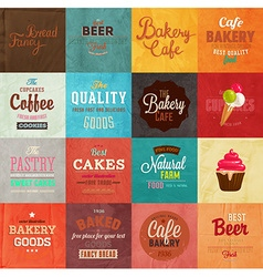 Retro bakery label vector