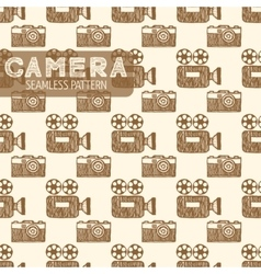 Old tv and still camera seamless pattern vector