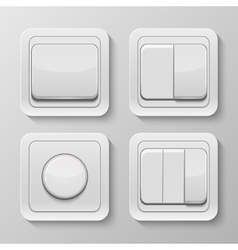 Set of realistic switches vector