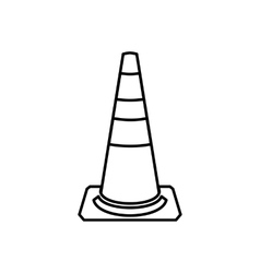 Traffic cone icon outline style vector