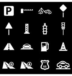 White road icon set vector